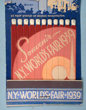 1939 New York World's Fair Souvenir Giant Matchbook Unused Trylon & Perisphere