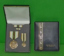 COLD WAR VICTORY MEDAL CASED VETERAN DISPLAY GIFT SET -MEDALS, RIBBON, LAPEL PIN