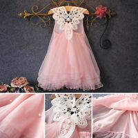 Baby Kids Summer Tulle Tutu Dresses Toddler Girls Princess Flower Party Dress