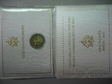 VATICANO 2013 MONETA 2 EURO COMMEMORATIVO FDC SEDE VACANTE FOLDER UFFICIALE OR.