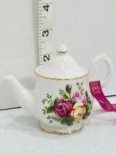 Royal Albert Old Country Roses Teapot Christmas Ornament ☆ NEW ☆ Lovely Gift