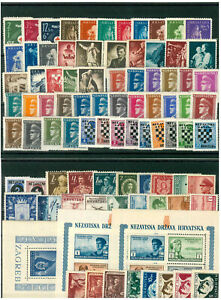 Croatia - NDH 1941/44, lot stamps and blocks, MH