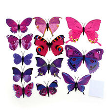 New 12pcs 3D Wall Stickers Butterfly Fridge Magnet Wedding Decoration Home RD@