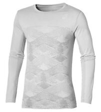 Asics Men's Running Top Seamless Training Long Sleeve - Grey - New