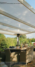 Terrassenüberdachung Doppelstegplatten 16 mm Komplett Set Terrassendach PC Paket