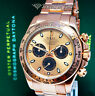 Rolex Daytona Chronograph 18k Rose Gold Watch Rose Dial Box/Papers 116505