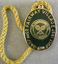WIMBLEDON LAWN TENNIS ENAMEL Badge THE CHAMPIONSHIPS FAIRWAY VILLAGE 1997