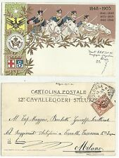 84936 antica cartolina militare 1904 cavalleggeri saluzzo