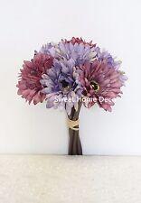 Sweet Home Deco 13'' Silk Artificial Gerbera Daisy Bouquet 7 Flowers
