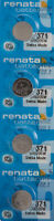 4 x Renata 371 Watch Batteries, SR920SW Battery | Shipped from USA