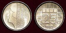 25 cents 1982 Beatrix NETHERLANDS Nederland Pays-Bas