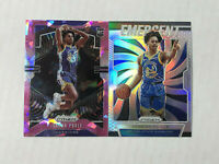 JORDAN POOLE LOT OF 2 2019-20 Prizm PINK CRACKED ICE RC + Emergent SILVER PRIZM!