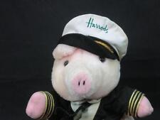 RARE HARRODS DEPARTMENT STORE PINK PIG SEA CAPTAIN HAT JACKET PLUSH CHAUFFER