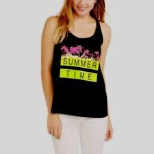 No Boundaries Juniors Graphic Braided Back Tank Summer Time Size MEDIUM New