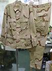 US ARMY BDU COAT TROUSERS DESERT CAMO DCU SHIRT PANT SET RIPSTOP REAL GI USA
