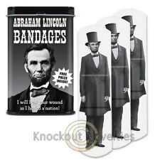 Abraham Lincoln Bandages Boo Ouch Funny Bandage Band Aid Adhesive Abe President