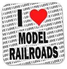 I Love Model Railroads Coaster - Gift - Birthday - Stocking Fillers