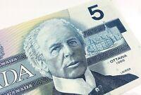 1986 Canada 5 Dollars GNM Prefix Canadian Uncirculated Banknote Five I743