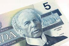 1986 Canada Five 5 Dollars GNM Prefix Canadian Uncirculated Banknote I743
