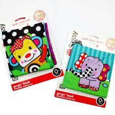 2× Sassy Baby Toys Monkey Elephant Mirror Rattle Crinkle Explore Sensory Books