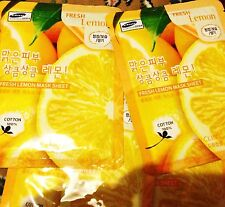 3W Clinic Fresh Lemon Mask Sheet for spotless skin, anti agein firming face mask