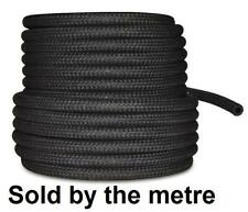 "8mm 5/16"" CAR FUEL BRAIDED HOSE REPLACEMENT BLACK 1 METRE PIPE"