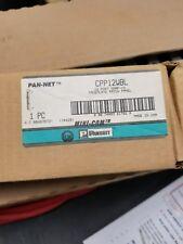 Panduit Pan-Net 12 Port Replacement Snap In Plate CPP12 WBL