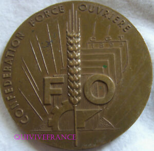 MED7997 - MEDAILLE SYNDICAT CONFEDERATION FORCE OUVRIERE 1967