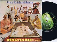 RADHA KRISHNA TEMPLE Hare Krishna Mantra danish 45PS 1969 George Harrison Top!