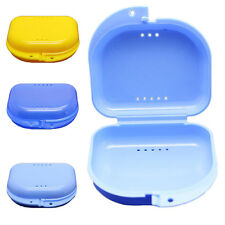 2x Dental Orthodontic Retainer Denture Storage Case Box Mouthguard Container a4