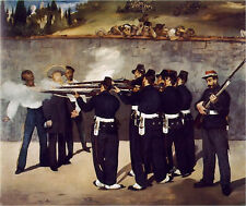 Dream-art Oil painting Edouard Manet - Execution of the Emperor Maximilian 36""