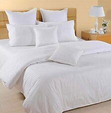 BOUTIQUE STRIPE 800 Thread Egyptian Cotton House Wife Pillow Cases Pair WHITE