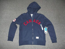 London 2012 Olympic Team Canada HBC Mens Small, Blue, CANADA Hoodie Full Zip NWT