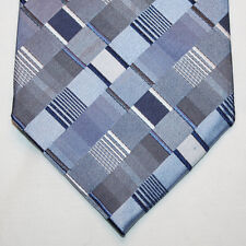 NEW Croft & Barrow Silk Neck Tie Light and Dark Blue Gray Plaids 1142