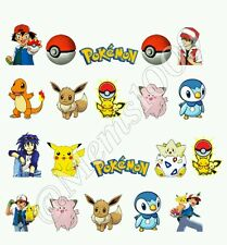 Pokemon Nail decals water decals Free shipping! Pokemon nail art!