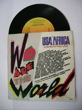 """USA FOR AFRICA - WE ARE THE WORLD - 7"""" VINYL 1984 - MICHAEL JACKSON - BOB DYLAN"""