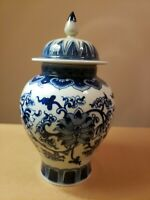Chinese 19th Century Blue and White General Jar
