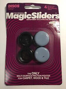"4 The Original Magic Sliders 1 1/8"" - 1 1/4"" Self Gripping Discs New"