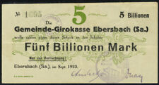 GERMANY - 5 billion mark banknote 1923 Ebersback . . .