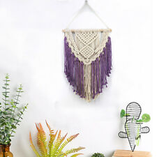 Macrame Woven Tapestry Wall Hanging Handmade BOHO Chic Tapestry Purple Tapestry