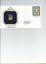 Golden Replica Stamps, 1847 five cent number one