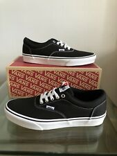 Brand New Boxed Mens Vans Doheny Canvas Trainers, Black/White UK 9