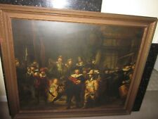"1960's Rembrandt Nightwatch Framed Print 41.5""  x 33"" Local Pick up Only"