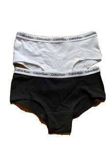 Calvin Klein GIRLS 2 Pack Modern Cotton Shorty Brief, Black/White