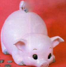 """Large Pig Bank  8 1/8"""" h x 12 3/4"""" L Ceramic Bisque, Ready To Paint"""
