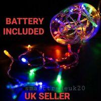 Multi Coloured Christmas  LED Battery Powered Fairy Lights Christmas String