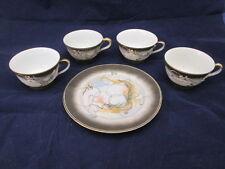 Hadson Japan Moriage Dragon China 4 Teacups and 1 Plate