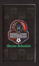 Cincinnati Silverbacks--1995-96 Pocket Schedule--Pontiac--NPSL
