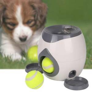 Automatic Interactive Ball Tennis Dog Hyper Pet Toys Training Feeding Reward NEW