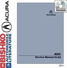 2001 2002 Acura MDX Service Shop Repair Manual CD